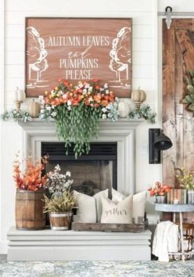Popular Farmhouse Mantel Decorating Ideas 22