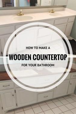 Comfy Farmhouse Wooden Bathroom Design Ideas 52