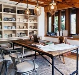 Gorgeous Industrial Table Design Ideas For Home Office 23