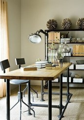 Gorgeous Industrial Table Design Ideas For Home Office 47