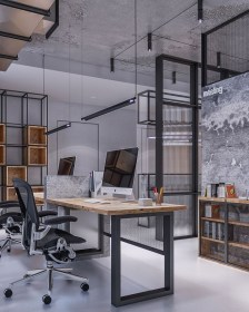 Magnificient Industrial Office Design Ideas 28