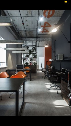 Magnificient Industrial Office Design Ideas 53