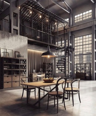 Perfect Industrial Style Loft Designs Ideas For Living Room 06