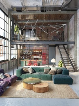 Perfect Industrial Style Loft Designs Ideas For Living Room 16