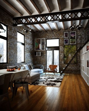 Perfect Industrial Style Loft Designs Ideas For Living Room 23
