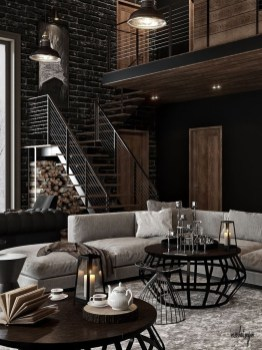 Perfect Industrial Style Loft Designs Ideas For Living Room 44