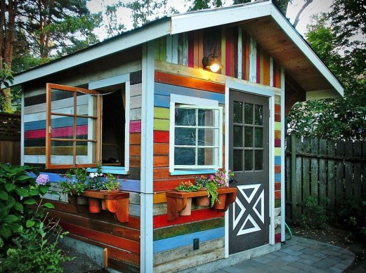 Cool Small Storage Shed Ideas For Garden 27