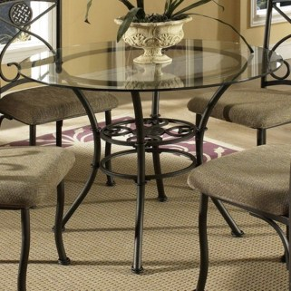 Striking Round Glass Table Designs Ideas For Dining Room 22