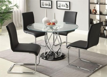 Striking Round Glass Table Designs Ideas For Dining Room 26