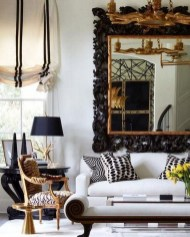 Catchy Living Room Designs Ideas With Bold Black Furniture 27