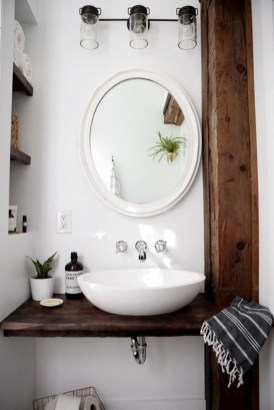 Cozy Small Bathroom Ideas With Wooden Decor 06