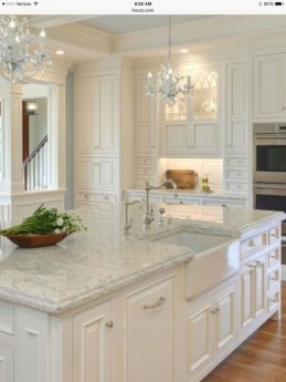 Creative Painted Kitchen Cabinets Design Ideas 39