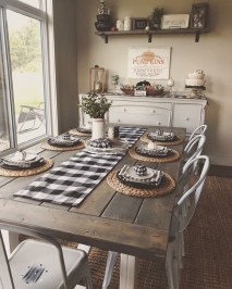 Cute Farmhouse Table Design Ideas Which Is Not Outdated 10