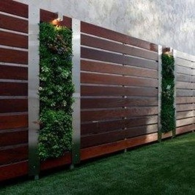 Cute Garden Fences Walls Ideas 44