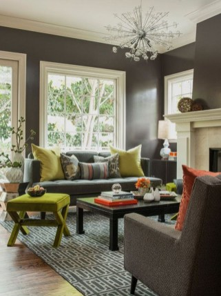 Enchanting Living Rooms Ideas With Combinations Of Grey Green 22