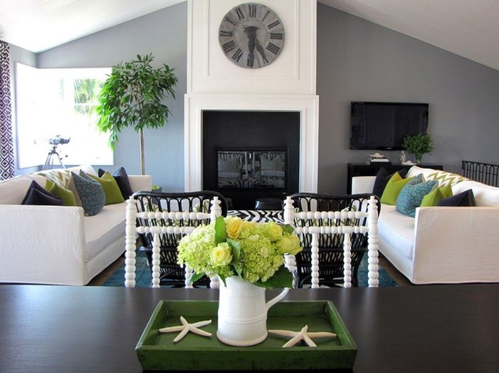 Enchanting Living Rooms Ideas With Combinations Of Grey Green 46