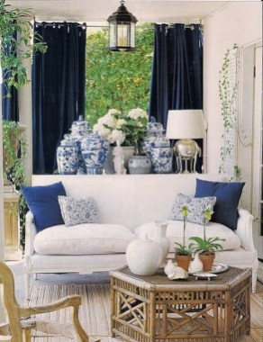 Fancy Living Room Decor Ideas With Ginger Jar Lamps 08