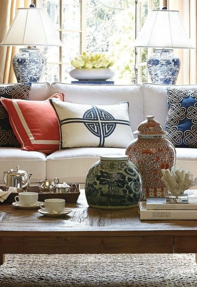 Fancy Living Room Decor Ideas With Ginger Jar Lamps 12