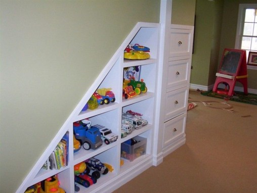 Cozy Bookcase Ideas For Kids Room 42