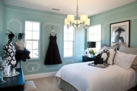 Cute Love Blue Ideas For Teenage Bedroom 28