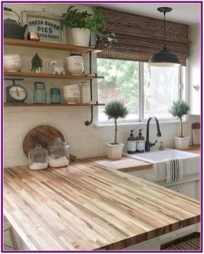 Enchanting Farmhouse Kitchen Decor Ideas To Try Nowaday 54