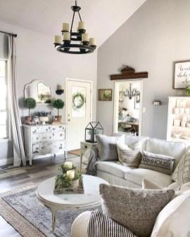 Fancy Farmhouse Living Room Decor Ideas To Try 36