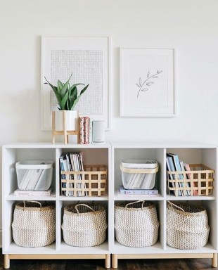 Perfect Storage Ideas For Your Apartment Decoration 36