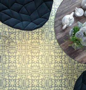 Unusual Diy Painted Tile Floor Ideas With Stencils That Anyone Can Do 11