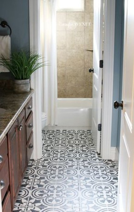 Unusual Diy Painted Tile Floor Ideas With Stencils That Anyone Can Do 23