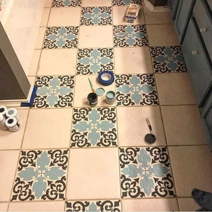 Unusual Diy Painted Tile Floor Ideas With Stencils That Anyone Can Do 45