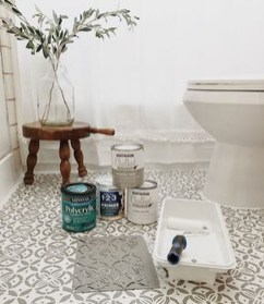 Unusual Diy Painted Tile Floor Ideas With Stencils That Anyone Can Do 46