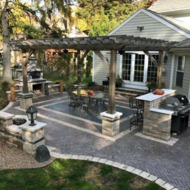 Elegant Backyard Patio Design Ideas For Your Garden 44
