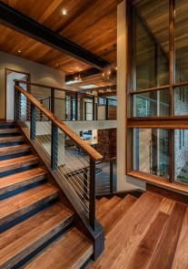 Gorgeous Wooden Staircase Design Ideas For Branching Out 20
