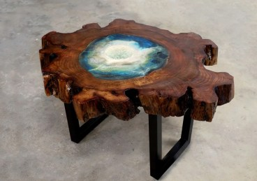 Impressive Home Furniture Ideas With Resin Wood Table 07