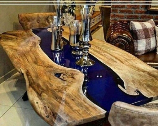 Impressive Home Furniture Ideas With Resin Wood Table 17