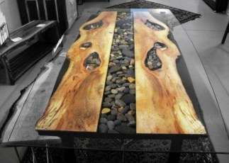 Impressive Home Furniture Ideas With Resin Wood Table 38