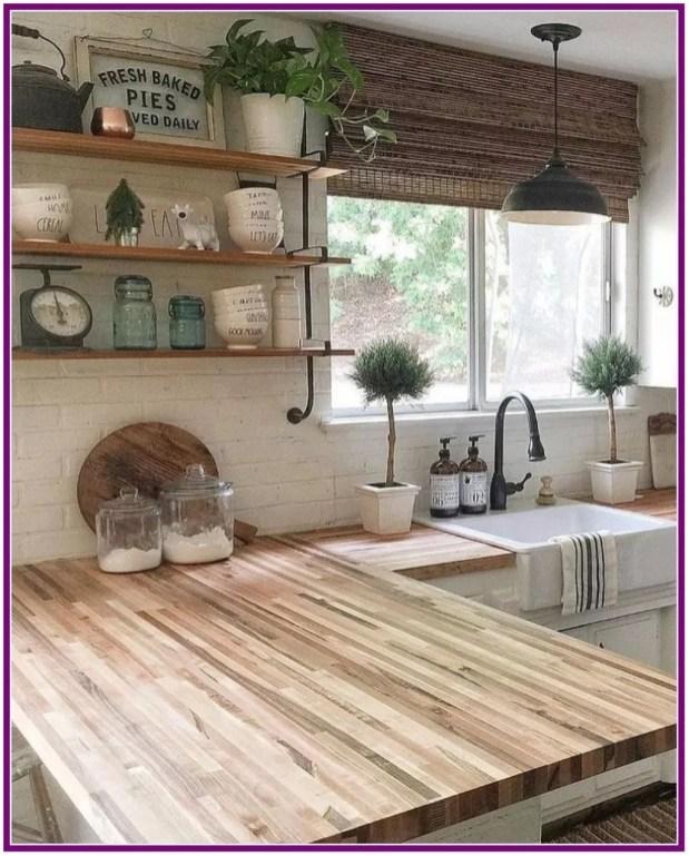 Latest Farmhouse Kitchen Décor Ideas On A Budget 54