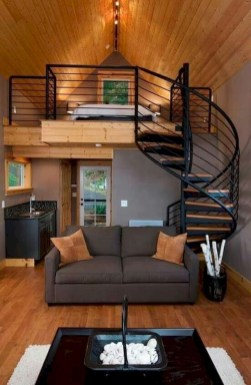 Rustic Tiny House Interior Design Ideas You Must Have 43