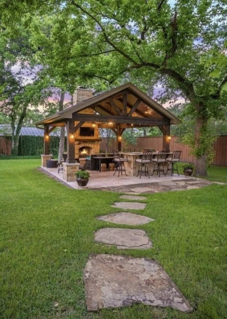 Stylish Gazebo Design Ideas For Your Backyard 21