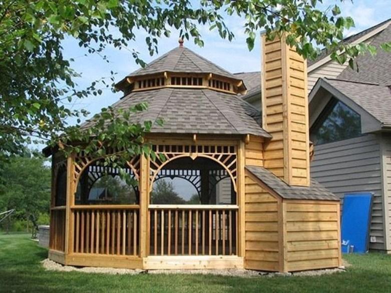 Stylish Gazebo Design Ideas For Your Backyard 41