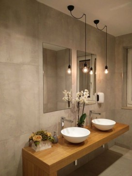 Wonderful Single Vanity Bathroom Design Ideas To Try 14