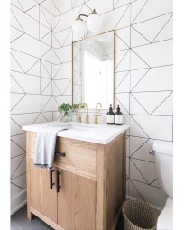 Wonderful Single Vanity Bathroom Design Ideas To Try 29