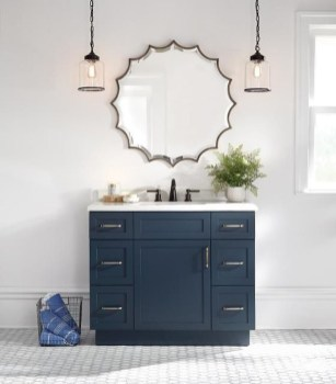 Wonderful Single Vanity Bathroom Design Ideas To Try 35