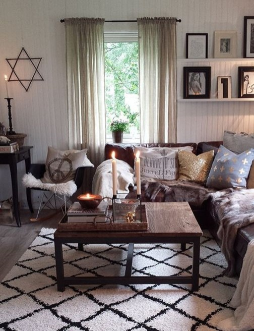 Amazing Country Living Room Design Ideas47