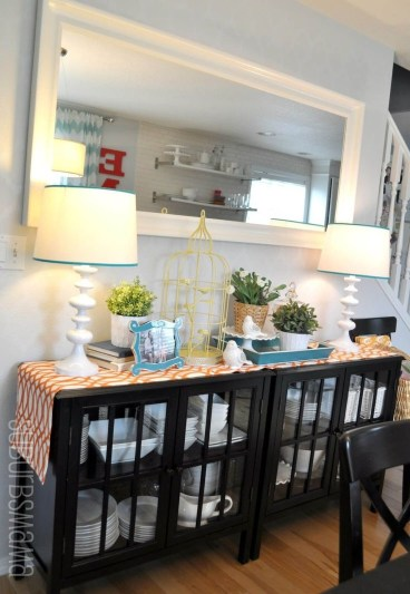 Awesome Dining Room Buffet Table Décor Ideas25