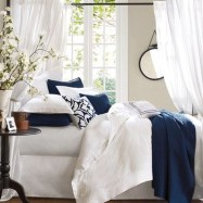 Beautiful Navy Blue And Coral Bedroom Decor21