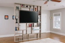 Gorgeous Cabinet Design Ideas For Small Living Room40