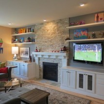 Impressive Living Room Ideas With Fireplace And Tv13