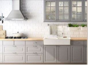 Incredible Farmhouse Gray Kitchen Cabinet Design Ideas19