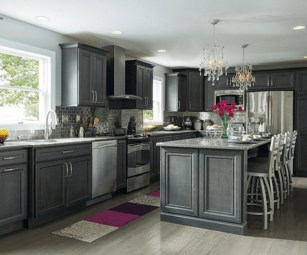 Incredible Farmhouse Gray Kitchen Cabinet Design Ideas20
